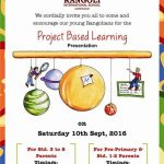 """Invitation for Project Based Learning Presentation"""
