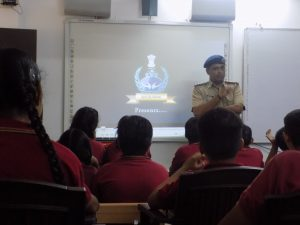 traffic rules awareness camp at RIS Gandhinagar